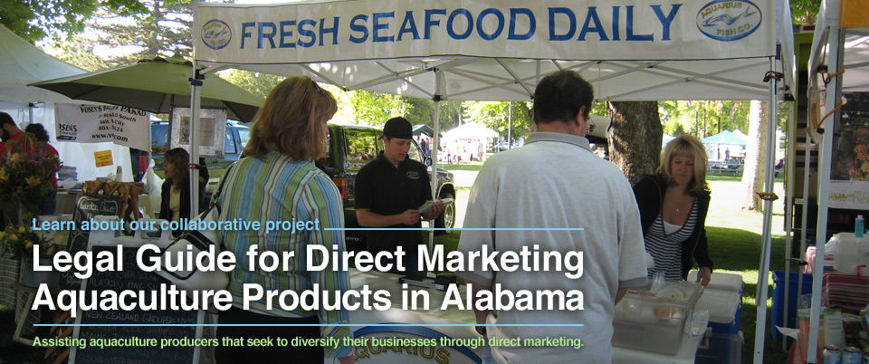 Legal Guide for Direct Marketing Aquaculture Products in Alabama