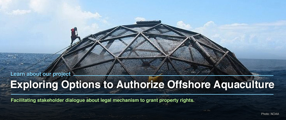 Exploring Options to Authorize Offshore Aquaculture