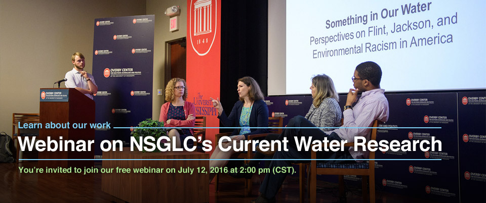 Webinar on NSGLC's Current Water Research